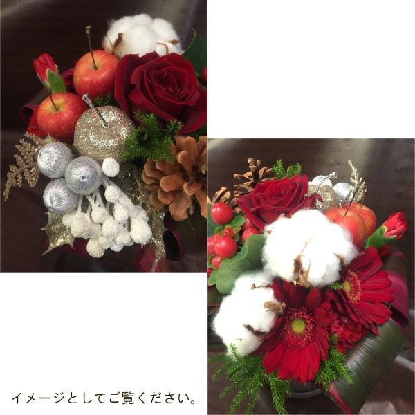 花束「クリスマスブーケ」 誕生日 お祝い 記念日 クリスマス 冬のギフト お歳暮 花 プレゼント ギフト|f-hanasyou|03