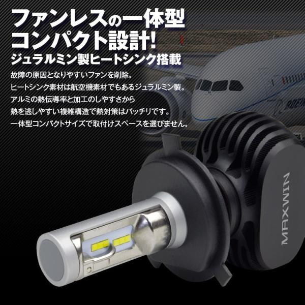 定形外送料無料 LEDヘッドライト バイク用 ワンピース 一体型 車検基準設計 LED CSPチップ H4 Hi/Lo 4000Lm 12V リード BMW CBR TDR TZR VOX XJR マジェスティ|f-innovation|02