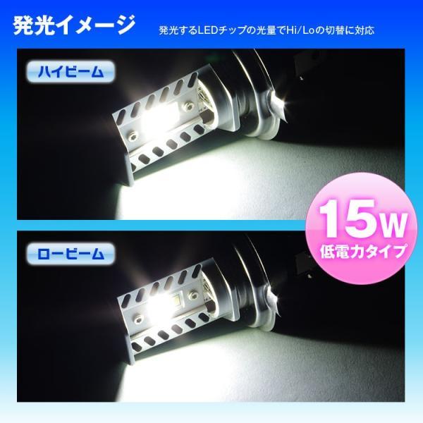 定形外送料無料 LEDヘッドライト LEDヘッドランプ 小型車 軽トラック 2個 H4 Hi Lo 6500K ファンレス ポン付け 小型|f-innovation|04