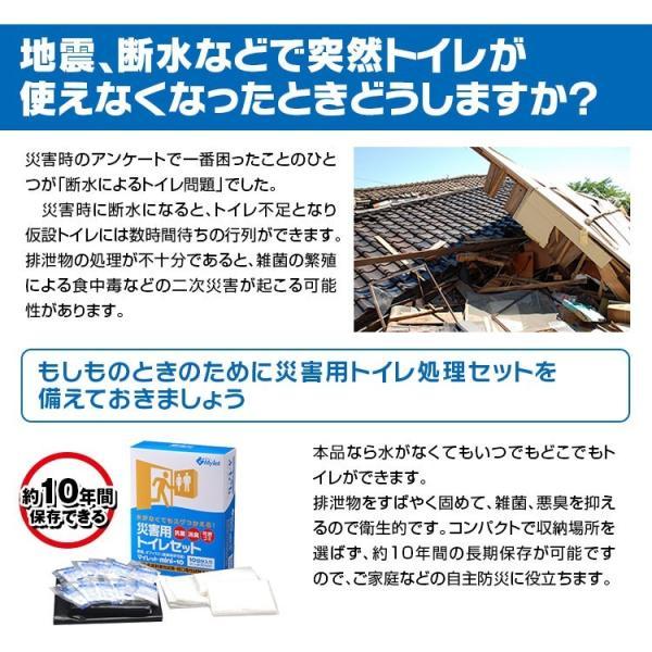 トイレ処理セット 非常用トイレ マイレット mini 10 10回分 使い捨て 長期保存可能 抗菌 消臭 可燃ゴミ 防災用品 簡易トイレ|f-innovation|02