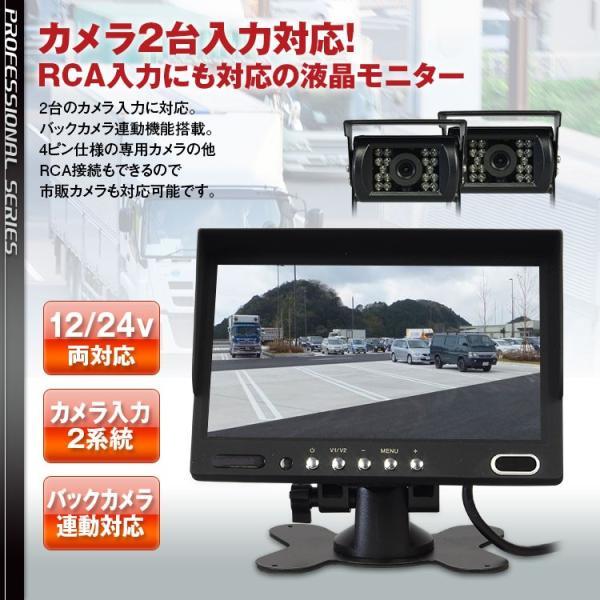 オンダッシュモニター 7インチ バック連動 カメラ 2系統 正像 鏡像 RCA スピーカー バックカメラ 4ピン 対応 f-innovation 02