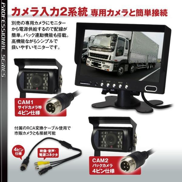 オンダッシュモニター 7インチ バック連動 カメラ 2系統 正像 鏡像 RCA スピーカー バックカメラ 4ピン 対応 f-innovation 03