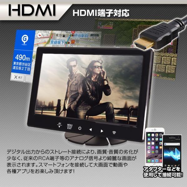 オンダッシュモニター 7インチ HDMI対応 IPSパネル LED液晶 iPhone スマートフォン アンドロイド Android RCA スピーカー搭載 12v 24v|f-innovation|03