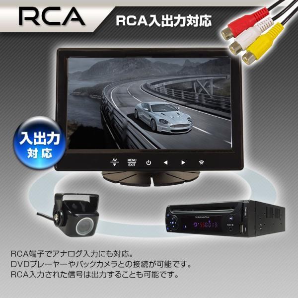 オンダッシュモニター 7インチ HDMI対応 IPSパネル LED液晶 iPhone スマートフォン アンドロイド Android RCA スピーカー搭載 12v 24v|f-innovation|04