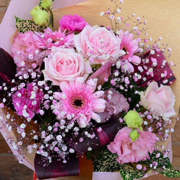 誕生日 ロマンチックピンクブーケ |f-iwai