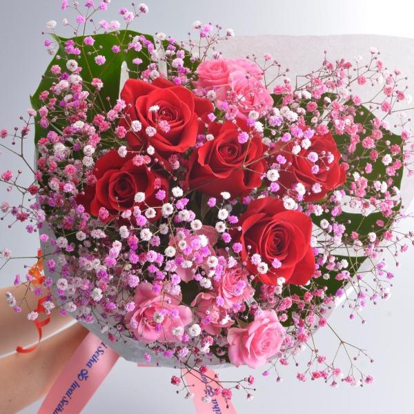 誕生日 ロマンチックローズブーケ|f-iwai
