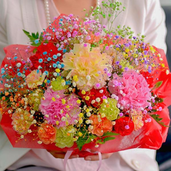 ミックススマイルバスケット 生花フラワーアレンジメント お祝い 誕生日お祝い 母の日 |f-iwai