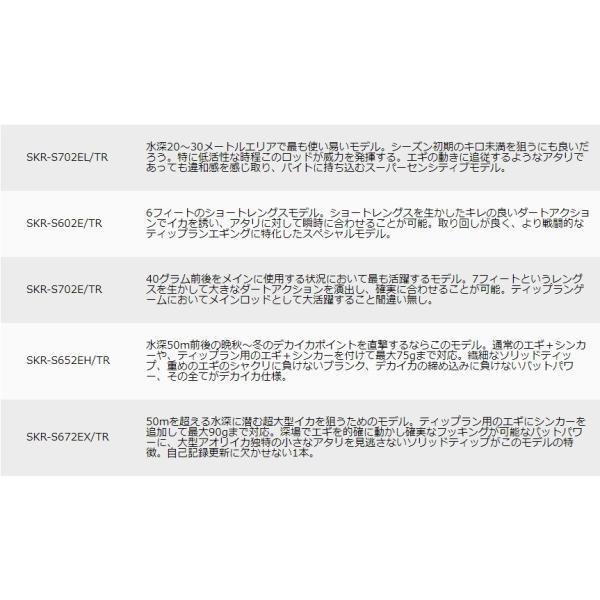 (限定特価・45%OFF)メジャークラフト スカイロード SKR-S652EH/TR 鉛スッテ・ティップラン・エギングロッド