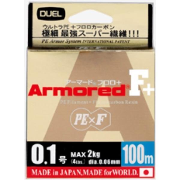 DUEL アーマードF+ 100m 0.1, 0.2, 0.3, 0.4号 ウルトラPEライン(メール便対応)