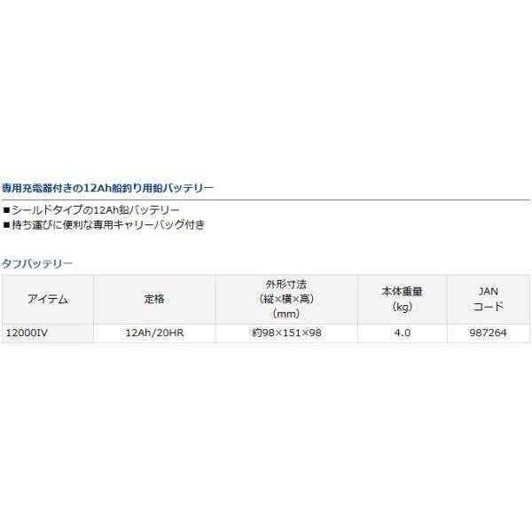 【取り寄せ商品】ダイワ タフバッテリー12000IV(C)|f-marunishi3|02