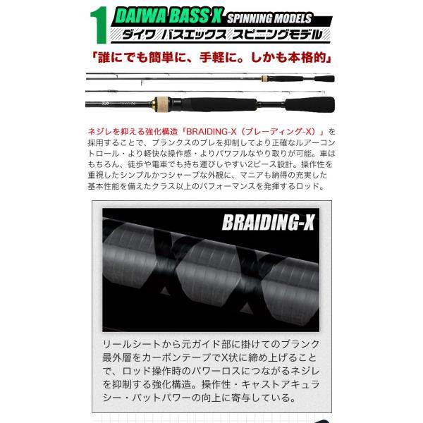 (5)DAIWA ダイワ ブラックバス釣り入門セット (スピニングモデル)(リール&ロッド)(BASS-X/クレストセット) f-marunishi 03