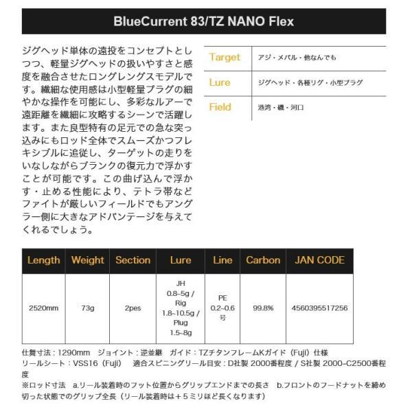 (5)ヤマガブランクス ブルーカレント TZ ナノ  (BlueCurrent 83/TZ NANO Flex) 2019年モデル