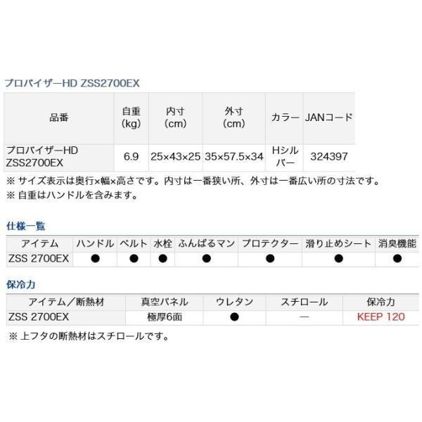 【いまトク!エントリーで最大11%相当】【数量限定】ダイワ クーラーボックス プロバイザーHD ZSS2700EX (容量:27リットル) /(7) f-marunishiweb2nd 03
