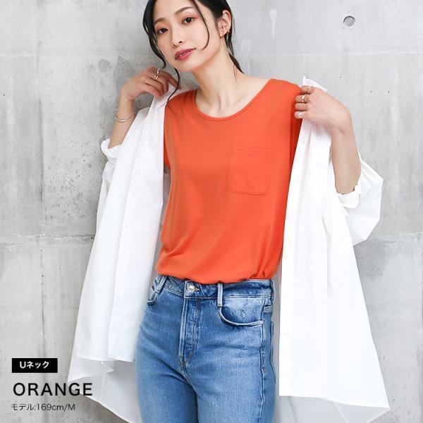 Tシャツ レディース Uネック シンプル ベーシック 美ライン 半袖 大きいサイズ 無地 白 黒 ボーダー ロゴ ホワイト とろみ カットソー 送料無料|f-odekake|18