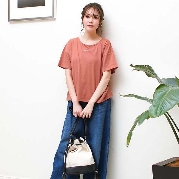 Tシャツ レディース 刺繍 ロゴ 春 夏 半袖 カットソー トップス 送料無料|f-odekake|12