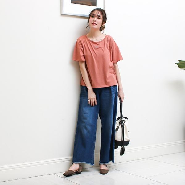 Tシャツ レディース 刺繍 ロゴ 春 夏 半袖 カットソー トップス 送料無料|f-odekake|13