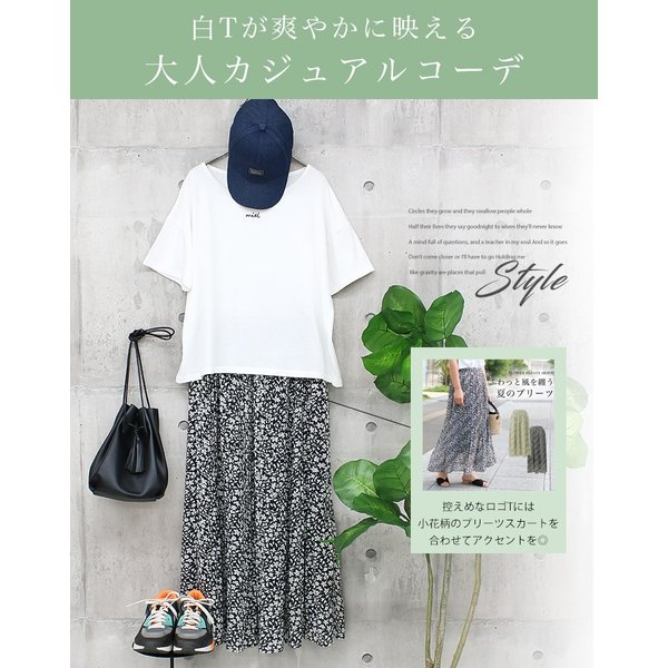 Tシャツ レディース 刺繍 ロゴ 春 夏 半袖 カットソー トップス 送料無料|f-odekake|03