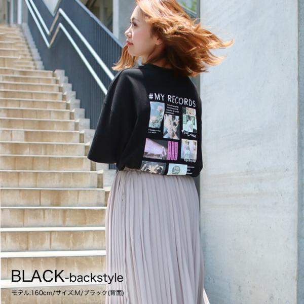 Tシャツ レディース バックプリント ロゴ フォトT ゆったり 半袖 春 夏 カットソー トップス 送料無料|f-odekake|11