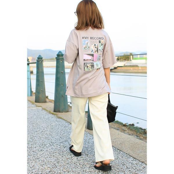 Tシャツ レディース バックプリント ロゴ フォトT ゆったり 半袖 春 夏 カットソー トップス 送料無料|f-odekake|16