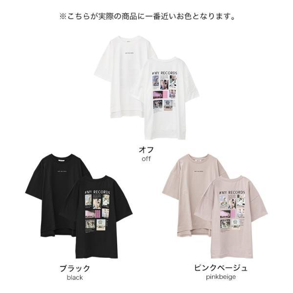 Tシャツ レディース バックプリント ロゴ フォトT ゆったり 半袖 春 夏 カットソー トップス 送料無料|f-odekake|19