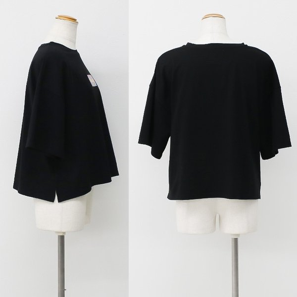 Tシャツ レディース ボックスロゴ 刺繍 ビックTシャツ 春 夏 半袖 ゆったり カットソー トップス 送料無料|f-odekake|11