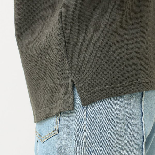 Tシャツ レディース 袖フリル ワッフル 半袖 シンプル 無地 カットソー トップス 送料無料|f-odekake|20