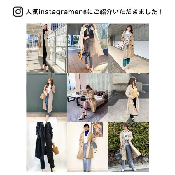 トレンチコート ロング レディース テロンチ アウター 春コート スプリングコート 大きいサイズ 送料無料|f-odekake|02
