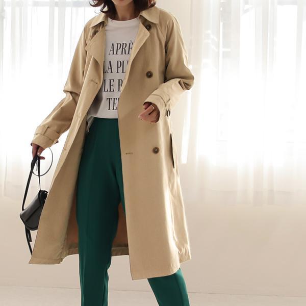 トレンチコート ロング レディース テロンチ アウター 春コート スプリングコート 大きいサイズ 送料無料|f-odekake|11