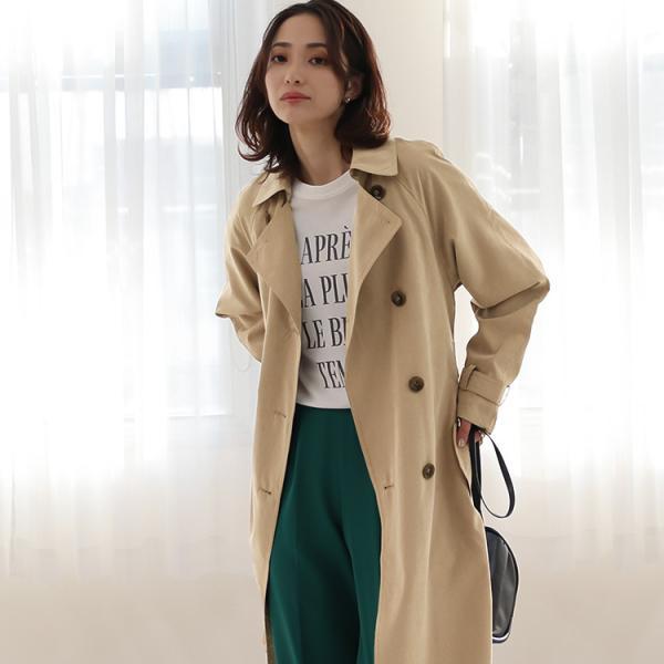 トレンチコート ロング レディース テロンチ アウター 春コート スプリングコート 大きいサイズ 送料無料|f-odekake|12