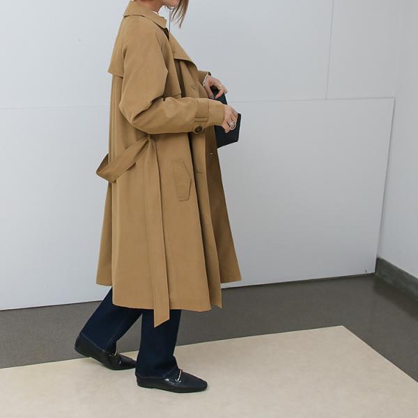 トレンチコート ロング レディース テロンチ アウター 春コート スプリングコート 大きいサイズ 送料無料|f-odekake|04