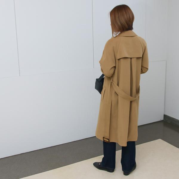 トレンチコート ロング レディース テロンチ アウター 春コート スプリングコート 大きいサイズ 送料無料|f-odekake|05