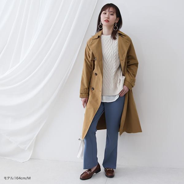 トレンチコート ロング レディース テロンチ アウター 春コート スプリングコート 大きいサイズ 送料無料|f-odekake|06