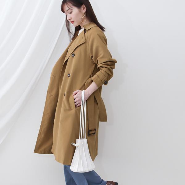 トレンチコート ロング レディース テロンチ アウター 春コート スプリングコート 大きいサイズ 送料無料|f-odekake|07