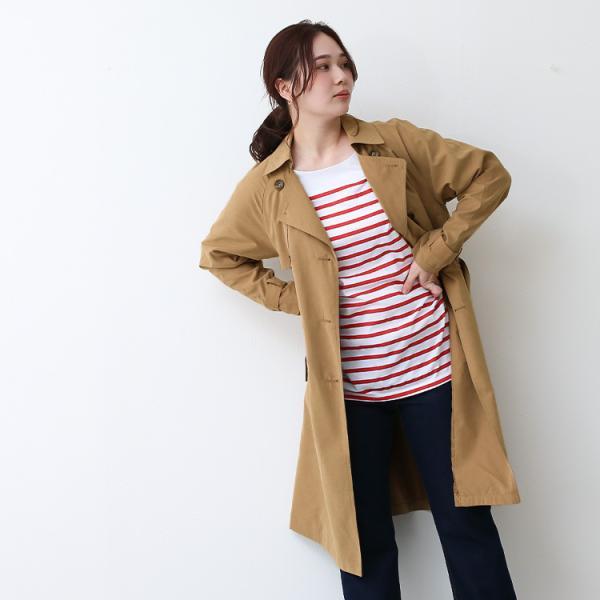 トレンチコート ロング レディース テロンチ アウター 春コート スプリングコート 大きいサイズ 送料無料|f-odekake|09