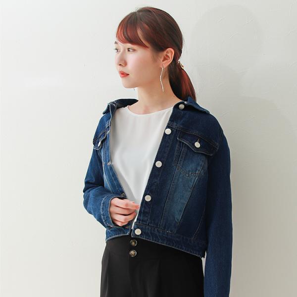 デニムジャケット Gジャン ジージャン コンパクト  レディース 大きいサイズ f-odekake 11