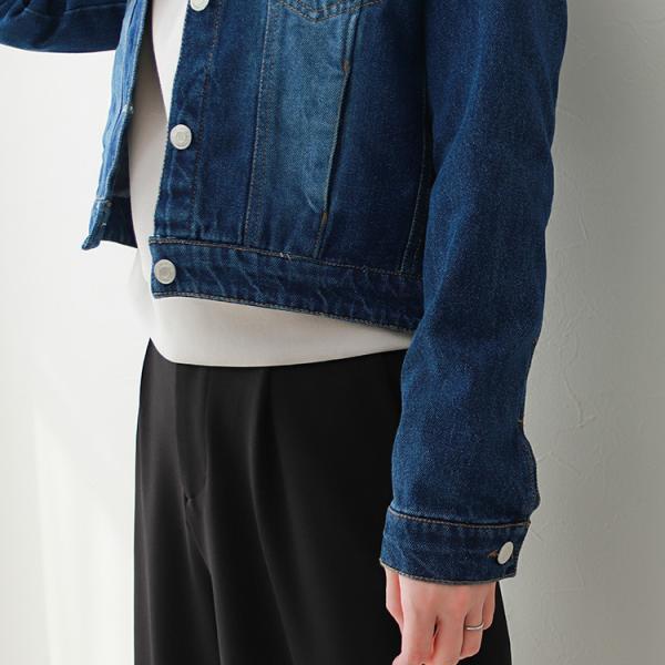 デニムジャケット Gジャン ジージャン コンパクト  レディース 大きいサイズ f-odekake 12