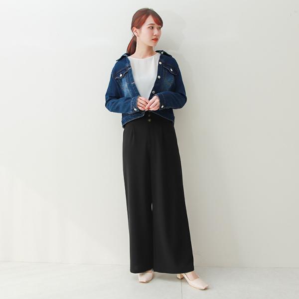 デニムジャケット Gジャン ジージャン コンパクト  レディース 大きいサイズ f-odekake 13