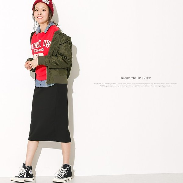 タイトスカート ペンシルスカート ひざ丈 スリット ミニスカート 美ライン 大きいサイズ  送料無料|f-odekake|10