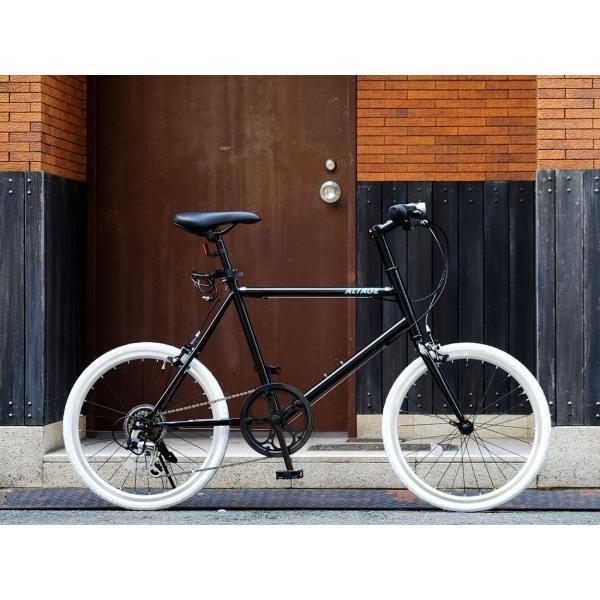 ミニベロ 小径自転車 20インチ シマノ7段変速ギア LEDライト カギ スマホホルダー プレゼント ALTAGE アルテージ AMV-001 組立必要品|f-select|15