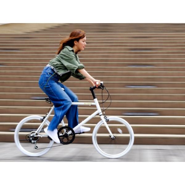 ミニベロ 小径自転車 20インチ シマノ7段変速ギア LEDライト カギ スマホホルダー プレゼント ALTAGE アルテージ AMV-001 組立必要品|f-select|17