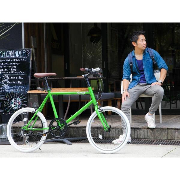 ミニベロ 小径自転車 20インチ シマノ7段変速ギア LEDライト カギ スマホホルダー プレゼント ALTAGE アルテージ AMV-001 組立必要品|f-select|19