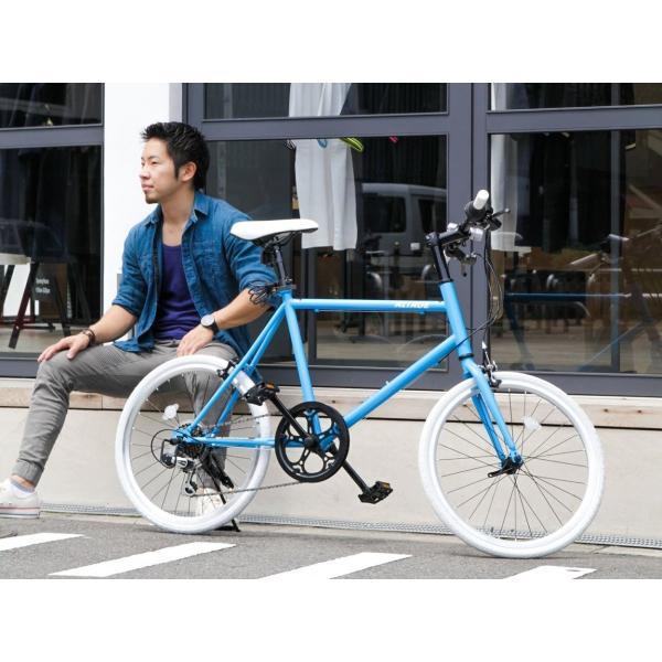 ミニベロ 小径自転車 20インチ シマノ7段変速ギア LEDライト カギ スマホホルダー プレゼント ALTAGE アルテージ AMV-001 組立必要品|f-select|20