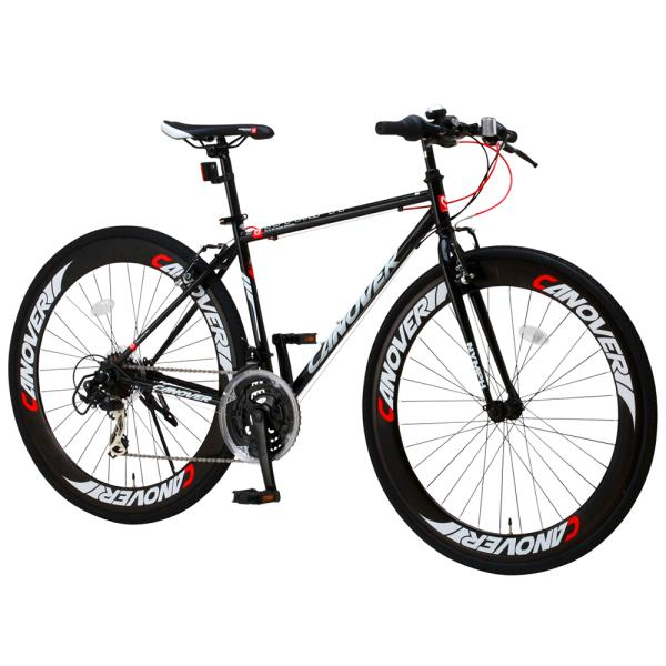 クロスバイク 自転車 700c 本体 シマノ21段変速ギア付き 60mmディープリム CANOVER カノーバー CAC-025 NYMPH ニンフ フレームサイズ450mm|f-select|05