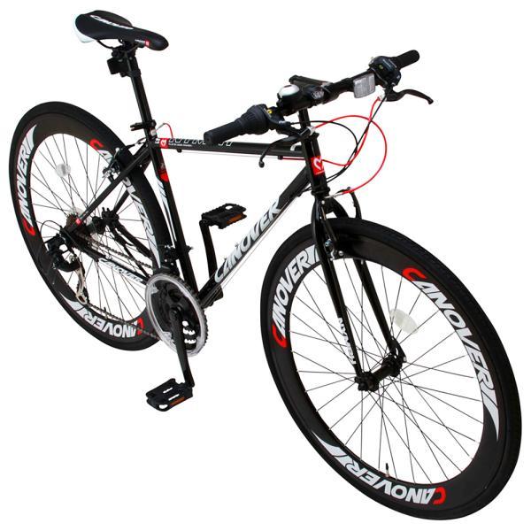 クロスバイク 自転車 700c 本体 シマノ21段変速ギア付き 60mmディープリム CANOVER カノーバー CAC-025 NYMPH ニンフ フレームサイズ450mm|f-select|06