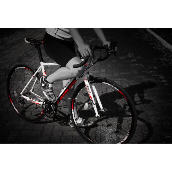 ロードバイク 自転車 完成品 700c デュアルコントロールレバー 16段変速 軽量 アルミ ライト付 CANOVER カノーバー CAR-011 ZENOS 完全組立|f-select|13