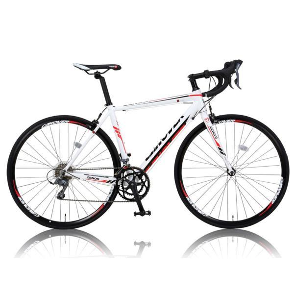 ロードバイク 自転車 完成品 700c デュアルコントロールレバー 16段変速 軽量 アルミ ライト付 CANOVER カノーバー CAR-011 ZENOS 完全組立|f-select|03