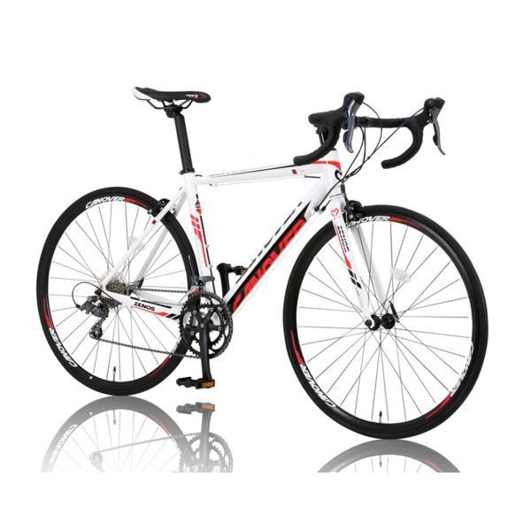 ロードバイク 自転車 完成品 700c デュアルコントロールレバー 16段変速 軽量 アルミ ライト付 CANOVER カノーバー CAR-011 ZENOS 完全組立|f-select|04