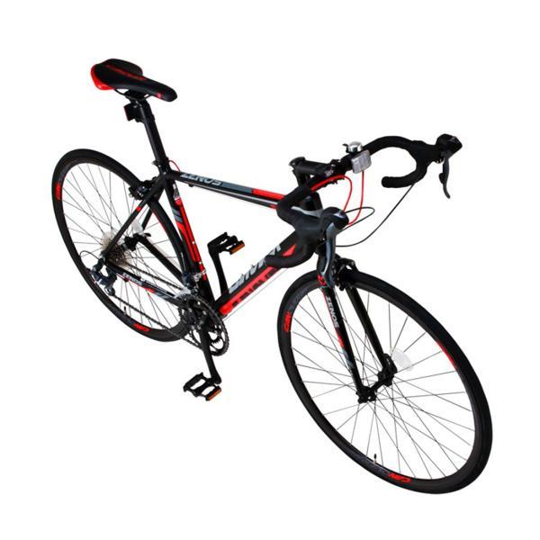 ロードバイク 自転車 完成品 700c デュアルコントロールレバー 16段変速 軽量 アルミ ライト付 CANOVER カノーバー CAR-011 ZENOS 完全組立|f-select|07
