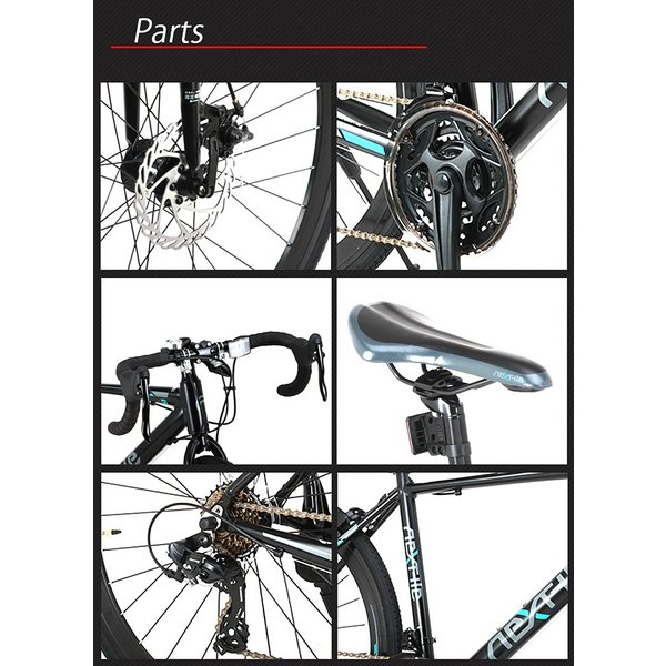 ロードバイク 700c 自転車 シマノ21段変速 軽量 アルミフレーム フロントディスクブレーキ NEXTYLE ネクスタイル RNX-7021-DC 組立必要品 f-select 06