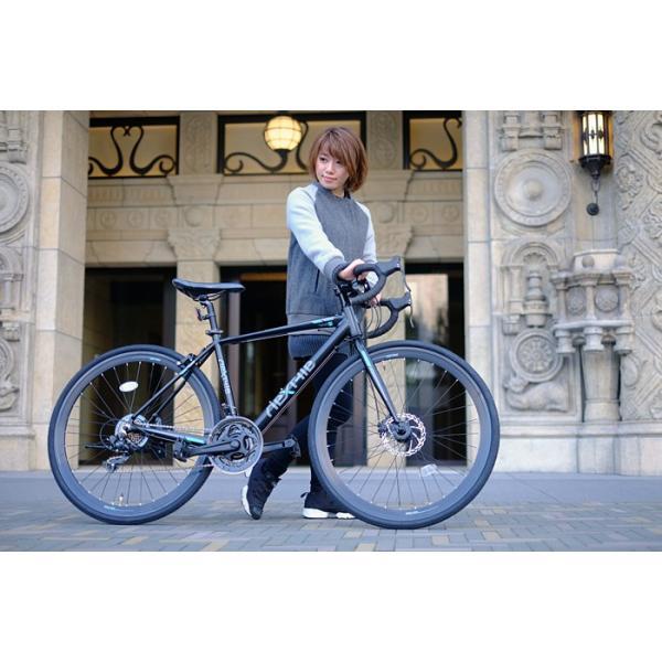 ロードバイク 700c 自転車 シマノ21段変速 軽量 アルミフレーム フロントディスクブレーキ NEXTYLE ネクスタイル RNX-7021-DC 組立必要品 f-select 07